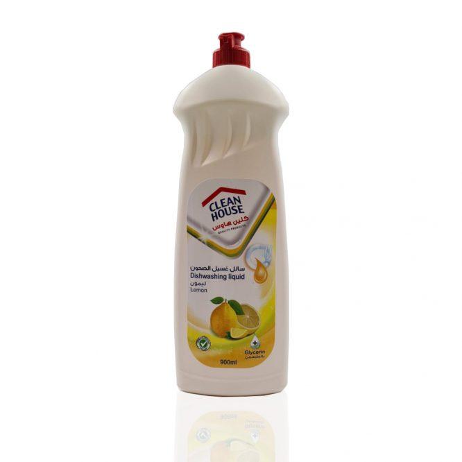 سائل غسون الصحون برائحة الليمون 900 مل كلين هاوس
