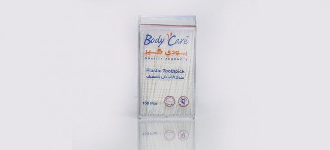 نكاشة اسنان بلاستيك فرشة 150حبة بودي كير